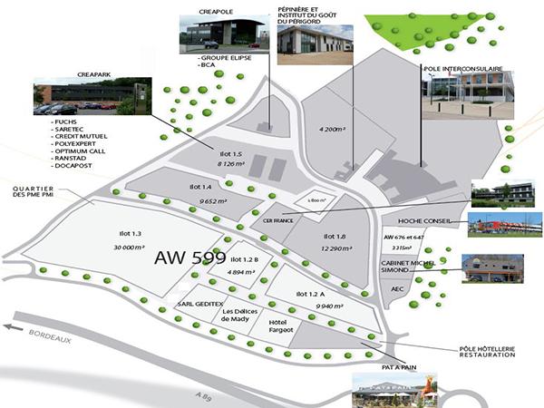 Terrain de 6 ha dédié secteurs agro, TIC, éco-activités à Coulounieix-Chamiers