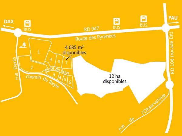 Terrain viabilisé de 4 035 m² près de Dax