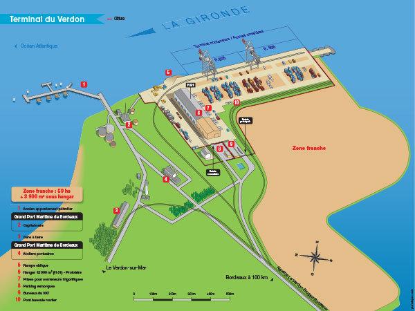 Terrains sur le port de Bordeaux - Terminal portuaire de Verdon